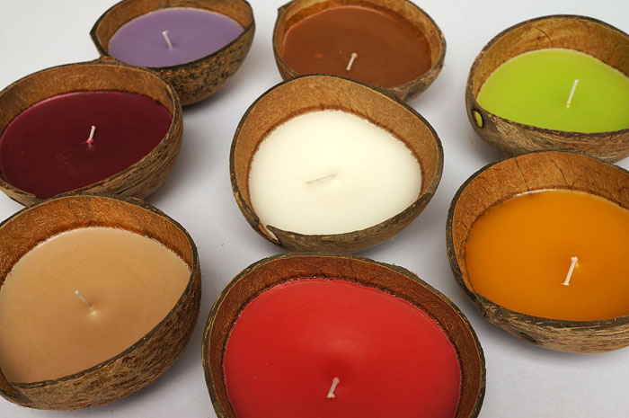 Coconut Candles Candle In Coconut Shell Coconut Candle